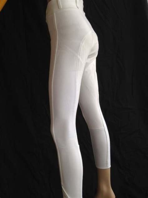 ladies high waist white competition sticky bum breeches
