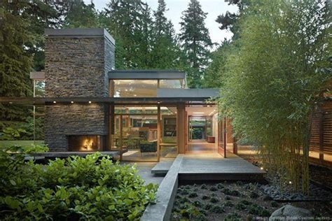 Casa Surrounded By Nature by Mid Century Modern Home With A Nature Backdrop Home