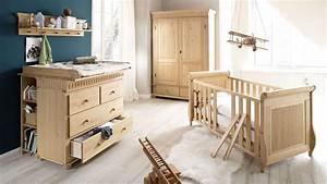 Babyzimmer Set HELSINKI 4 Teilig In Kiefer Massiv Natur