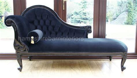 velvet chaise settee chelsea chaise longue single ended black velvet sofa
