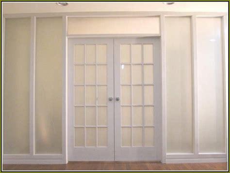 Good Looking Frosted Glass Linen Closet Doors