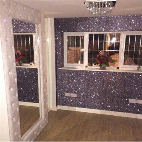glitter wall dream bedroom pinterest walls