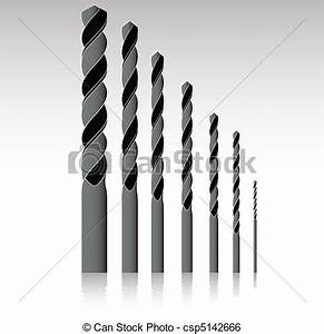 Clip Art Vector of set of drill bits vector illustration ...