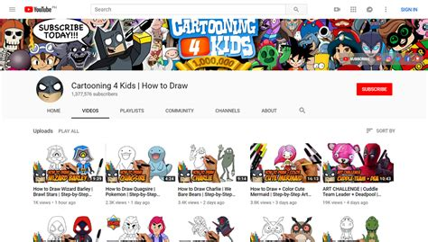 top drawing youtube channels drawing youtube