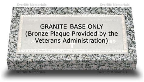 granite base for veteran bronze plaque by everlife memorials
