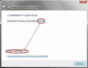 Code Erreur Orange : erreur d 39 installation du sp1 windows 7 code 0x800f0818 ~ Medecine-chirurgie-esthetiques.com Avis de Voitures