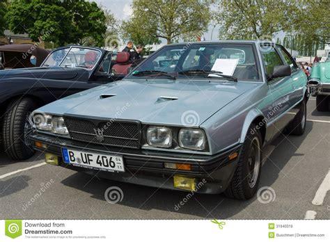 old maserati biturbo sport car maserati biturbo tipo 116 editorial stock