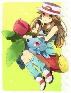 Girls of Pokemon images Leaf / Blue wallpaper and ...