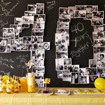 40th Birthday Decorations Ideas by Anniversary Decorations Favors Ideas