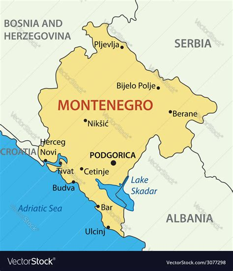 We would like to show you a description here but the site won't allow us. Montenegro - map Royalty Free Vector Image - VectorStock