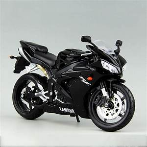 YMH YZF R1 Black motorcycle model 1 12 scale Alloy