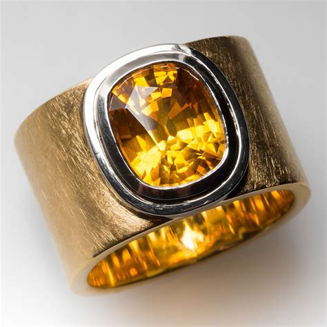 karin tremonti mens  carat yellow sapphire  gold ring