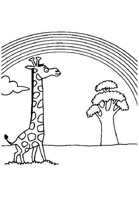 print coloring image - MomJunction | Giraffe coloring