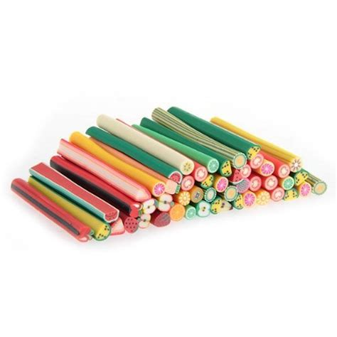 lot 50 canes fimo fruit pas cher