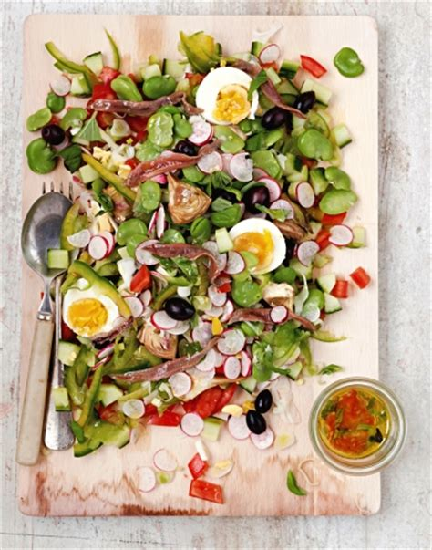 livre cuisine vegetarienne salade niçoise régal