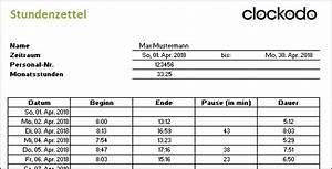 Datenmenge Berechnen : kostenlose stundenzettel vorlage f r excel und als pdf clockodo ~ Themetempest.com Abrechnung