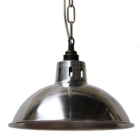 industrial factory pendant light brushed aluminium for