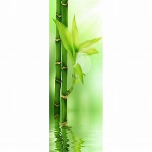 Papier Peint Sticker : papier peint l unique bambous art d co stickers ~ Premium-room.com Idées de Décoration