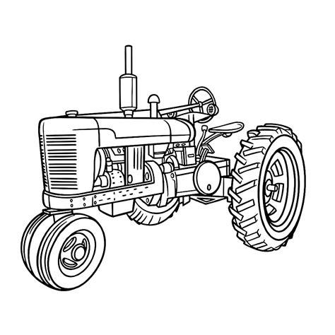 Tractor Kleurplaat by Leuk Voor Tractor 0001