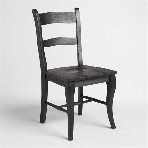 black wood jozy dining chairs set of 2 world market