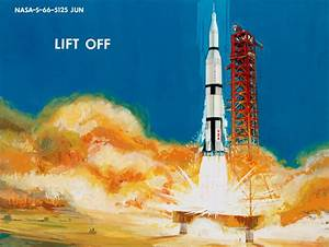 An Apollo Lunar Landing Told Through Vintage Art ...