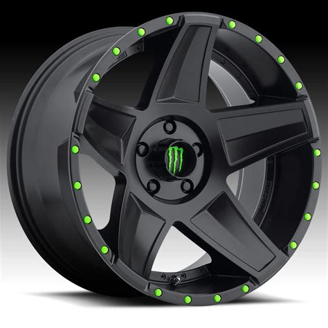 wheels monster truck videos monster energy 648b satin black 20x9 8x6 5 18mm 648b