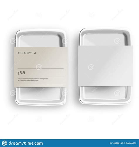 Posted in photoshop » banner & mockup template. White Mockup Empty Blank Styrofoam Plastic Food Tray ...