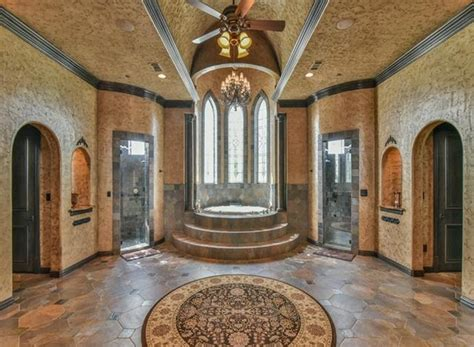 square foot castle  stone brick mansion