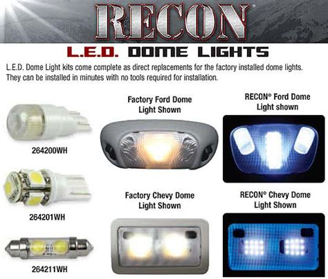 svt raptor recon led dome lights