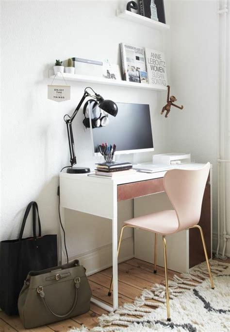 petit bureau blanc comment décorer un bureau laqué blanc 61 photos