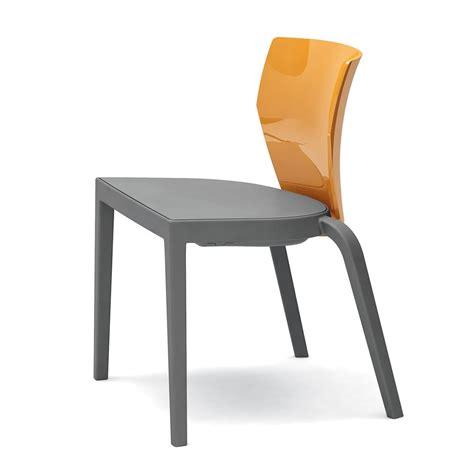 chaise en polycarbonate bi chaise empilable infiniti en polypropylène dossier en