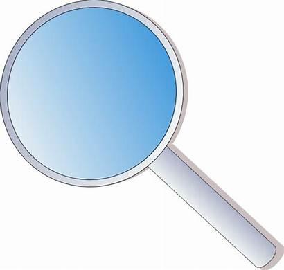 Magnifying Glass Clip Vector Cartoon Clipart Lens