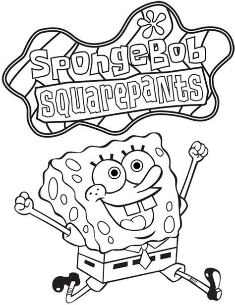 nickelodeon spongebob coloring pages  kids