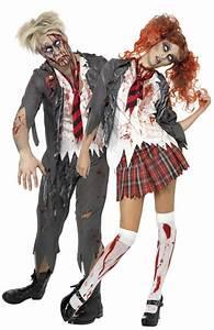 Berühmte Paare Kostüm : zombie sch ler kost m halloween f r paare paarkost me und g nstige faschingskost me vegaoo ~ Frokenaadalensverden.com Haus und Dekorationen