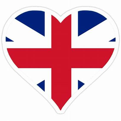 Flag Heart British Stickers Redbubble Portfolio Sticker