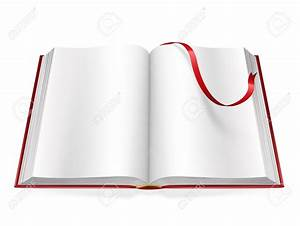 Open Book With Blank Pages Clipart (64+)