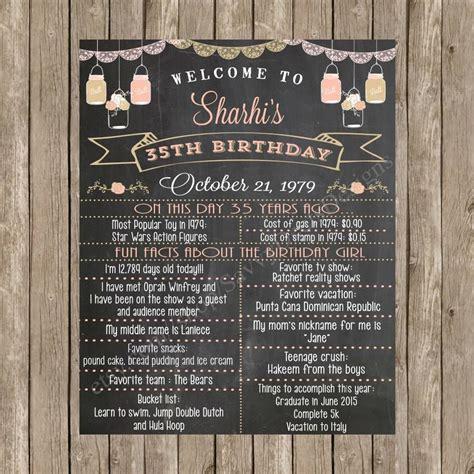custom chalkboard printable adult birthday sign
