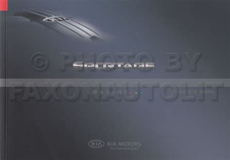 2007 Kia Sportage Owners Manual by Search