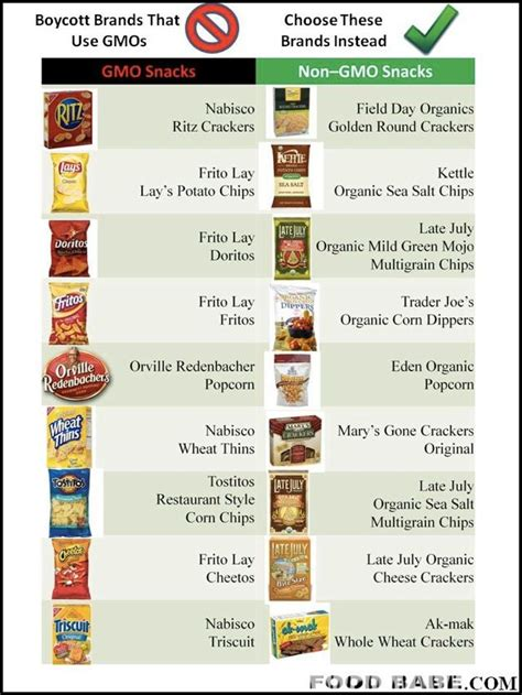 Simple List Of Alternatives For Gmo Foods Food+gmo