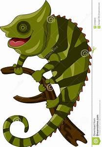Chameleon cartoon smiling stock illustration. Image of ...
