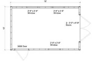 10 x 16 gambrel shed plans how to build diy blueprints pdf 12x16 12x24 8x10 8x8 10x20