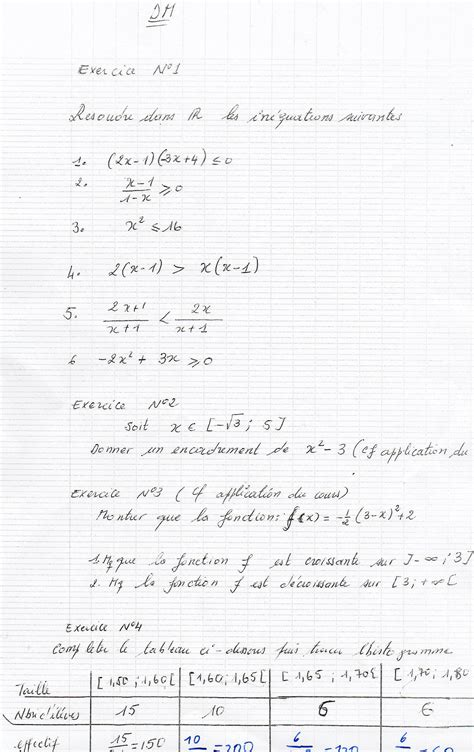 devoir maison maths seconde seconde maths isaac ettien s name