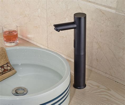 touchless bathroom faucet bronze wadsworth touchless rubbed bronze bathroom sink faucet