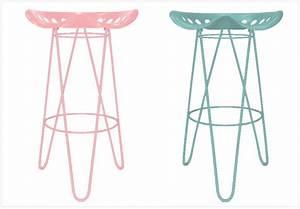 Tabouret De Bar Rose : 10 tabourets de bar tr s styl s joli place ~ Teatrodelosmanantiales.com Idées de Décoration