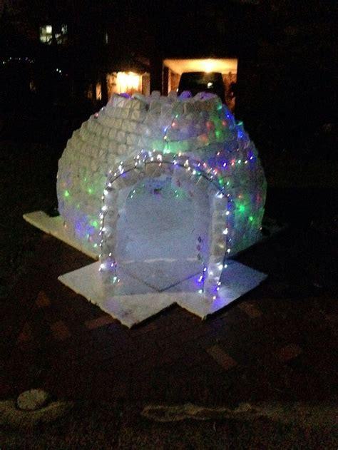 milk jug igloo recycle christmas crafts christmas lights