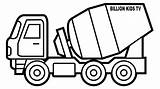 Coloring Truck Construction Mixer Drawing Crane Trucks Vehicles Toy Drawings Cement Chevy Template Ice Cream Colouring Printable Sketch Sheets Clipartmag sketch template