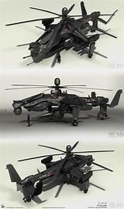 Fuujin Attack Helicopter Renders 2 by MeganeRid on DeviantArt