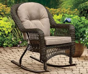 wilson fisher westwood  weather wicker rocker big lots