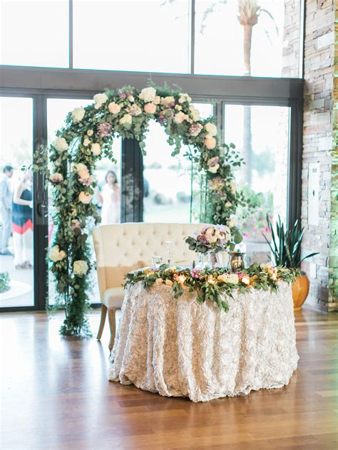 Sweetheart Table With Greenery Arch Elizabeth Anne