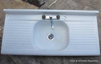 enamel kitchen sink with drainboard vintage porcelain enamel kitchen sink drainboard
